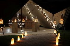 Chasing Rainbows Kissing Frogs: TiPi Marquee Wedding