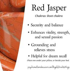 Red Jasper crystal meaning