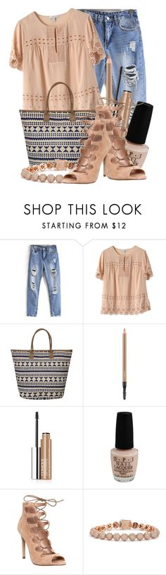 """""""Untitled #8444"""" by queenrachietemplateaddict ❤ liked on Polyvore featuring J.Crew, MAC Cosmetics, Clinique, OPI, Office and Eddie Borgo"""