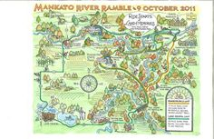Mankato River map - Illustrated map by Roberta Avidor