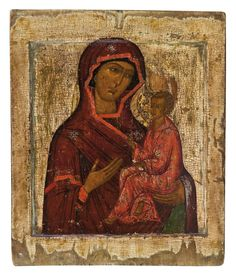 H Korban collection Russian Icons, Madonna And Child, Religious Icons, Virgin Mary, 17th Century, Christianity, Marvel, Van, Painting