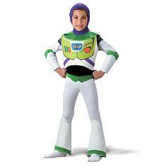 Disney Pixar - Boys' Deluxe Buzz Lightyear Costume, Size: 3-4T, Blue/Beige