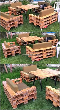 A beautiful and artistic simple garden furniture design has been crafted here with the pleasant working of the mode effects. This whole crafting of th., Wonderful Creations Made with Recycled Pallets Garden Furniture Design, Pallet Garden Furniture, Pallets Garden, Diy Furniture, Barbie Furniture, Furniture Vintage, Furniture Projects, Palette Furniture, Painted Furniture