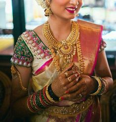 Indian Silk Sarees, Work Blouse, Bangles, Fashion, Bracelets, Moda, Fashion Styles, Fashion Illustrations, Bracelet
