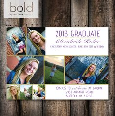 Picture Collage Graduation Invitation/ by ByOurLoveDesigns on Etsy, $15.00