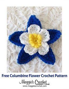 Columbine Free Crochet Pattern from Maggie's Crochet Blog.