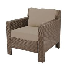 Hampton Bay Beverly Patio Deep Seating Lounge Chair With Beverly Beige  Cushions