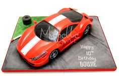 Michelle Sugar Art: Ferrari 458 Italia Cake