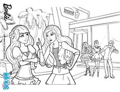 Barbie And Raquelle Are Arguing Coloring Page More A Fairy Secret Pages