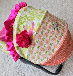 Ritzy Baby Designs, LLC - Up Parasol Mockingbird Pink, Stella Pink, and…