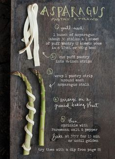 Throw a Gorgeous Summer Dinner Party with The Forest Feast - Appetizer: Asparagus Pastry Straws from #InStyle