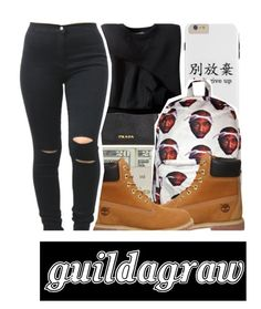 """""""• my christmas gift to you •"""" by guildagraw ❤ liked on Polyvore featuring Prada, Jack Spade and Timberland"""