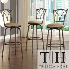 Metro Shop TRIBECCA HOME Avalon Double Cross Swivel Counter Barstool Set of 3 -- More info could be found at the image url.Note:It is affiliate link to Amazon.