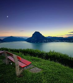 Montagnola - Lugano Switzerland ::: many memories from times spent sitting on that red bench... about half way up to Herman Hesse's home ::: Bellissimo :))