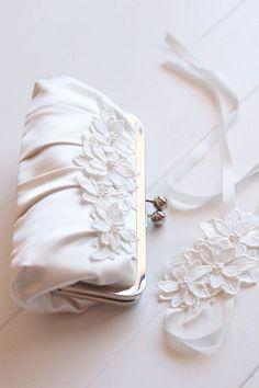 Flower evening bag