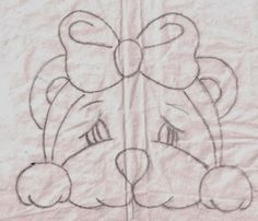 Pintura em fralda- ursinhas pintadas por Filó Frigo, veja abaixo como fazer