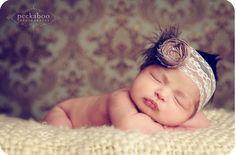 perfect headband for newborn session