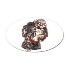Miniature Poodle 38.5 x 24.5 Oval Wall Peel on CafePress.com