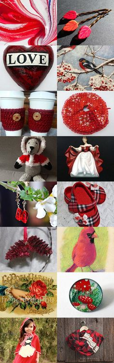 It Has To Be in RED!  TEMPT TEAM Blast a Thon! by Vicki Abrew on Etsy--Pinned with TreasuryPin.com