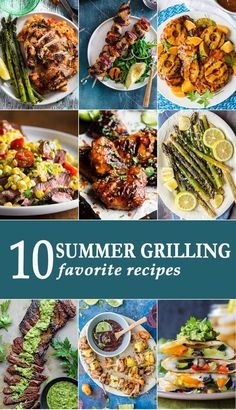 10 Summer Grilling Recipes to make your May-August ultra delicious! Easy recipes for the grill, perfect for parties; especially Memorial Day, the of July, and Labor Day! via /beckygallhardin/ Best Grill Recipes, Summer Grilling Recipes, Healthy Grilling, Barbecue Recipes, Summer Recipes, Easy Recipes, Healthy Recipes, Grilling Ideas, Bbq Ideas