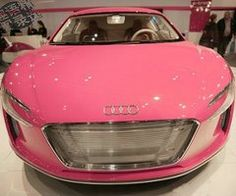 A Pink Audi R8... yep, that's pink alright.