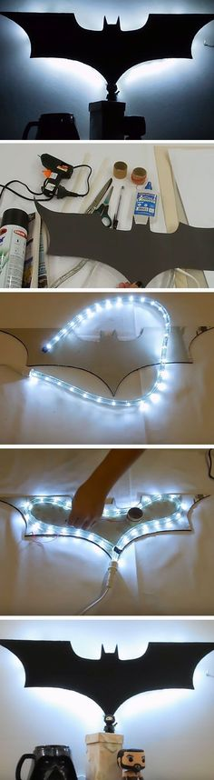 Batman Luminary | 16 DIY Man Cave Decor Ideas for Small Spaces that will rock your world!