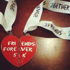 Friends Forever - Together Forever (Medals and bibs will be ship out within 2 to 5 days) - Virtual Run Events Runners Motivation, Virtual Run, Running Medals, Together Forever, Running Tips, Friends Forever, No Time For Me, My Best Friend, Charity