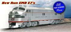 Broadway Limited N Scale EMD E7 Diesel Locomotives at BLW,