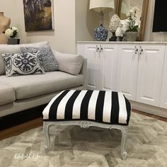 lilyfield life french ottoman striped fabric
