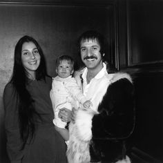 Sonny & Cher with their daughter, Chastity Bono.