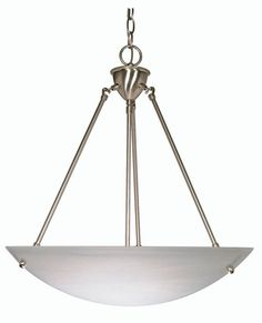 View the Nuvo Lighting 60/370 Three Light Down Lighting Bowl Pendant at LightingDirect.com.