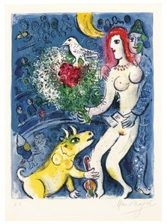 MARC CHAGALL (1887-1985)Le Cirque: one platelithograph in colors, on Arches paper, 1967, signed in pencil, annotated 'HC' (one of three hors-commerce impressions, aside from the edition of 24), published by Tériade Editeur, Paris, framed Image: 16¾ x 12¾ in. (425 x 324 mm.)Sheet: 20⅜ x 14⅞ in. (518 x 378 mm.)