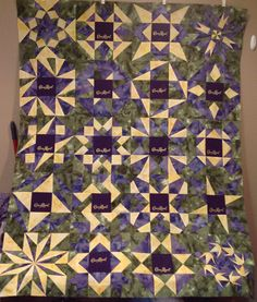 Crown Royal lap quilt -- by Cindy Luttrell