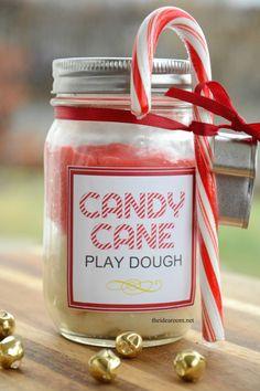 Candy Cane Play Dough - The Idea Room