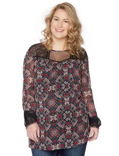Motherhood Wendy Bellissimo Plus Size Lace Trim Maternity Blouse ** Don't get left behind, see this great  product : Plus size maternity
