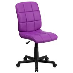 Flash Furniture Mid-Back Purple Quilted Vinyl Task Chair