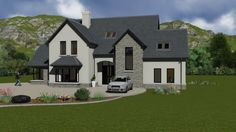 Ideas For Farmhouse Architecture House Plans Front Elevation House Designs Ireland, Houses In Ireland, Ireland Homes, Two Storey House Plans, Open House Plans, Dream House Plans, Dormer House, Dormer Bungalow, Style At Home