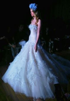 Ines Di Santo SS 2015 Couture Bridal Collection is featuring Farrah gown in petal pink. Coverage and photo done by #FarrahZhao. Visit PrestonBailey.com for the latest bridal trends and more! #PrestonBailey #WeddingDress #BridalDress