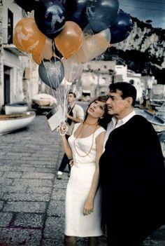 """Sophia Loren and Clark Gable in """"Capri"""", 1960."""