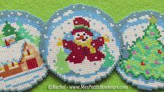 boules de neige en perles hama mini