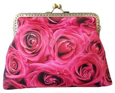 Pink Rose Flower Floral Roses Clutch Bag Purse Makeup Bag Birthday Gift Best Friend Gift for Women Gothic Wedding Bridesmaid Gift for Her Floral Clutch Bags, Floral Clutches, Best Friend Gifts, Gifts For Friends, Gifts For Her, Bridesmaid Clutches, Beautiful Pink Roses, Pink Rose Flower, Sewing Blogs