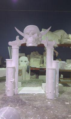 carved from styrofoam