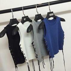 4 Colors Bandage Knit Vest SP179055
