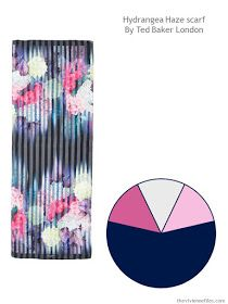Building a Capsule Wardrobe by Starting with a Scarf - Hydrangea Haze by Ted Baker London