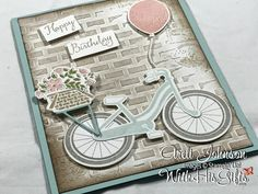 Join me in my craft room today and learn how to create these absolutely gorgeous Summer Bike Ride card featuring Stampin Up's Bike Ride Bundle!