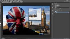 Pintar bandera en cara con Photoshop - Especial Londres 2012