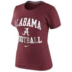 99f8fdd1a8d4 Nike Womens University of Alabama Gridiron Short Sleeve T-shirt