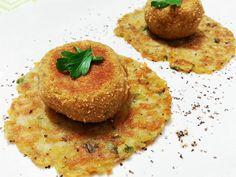 Polpette di carciofi con rosti di patate http://www.lovecooking.it/antipasti-e-contorni/come-preparare-le-polpette-di-carciofi/