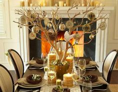 christmas decorating with tree branches   tablescape for the holidays