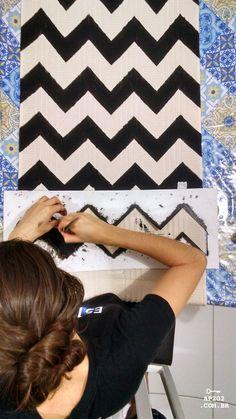 DIY tapete chevron zigue zague faça você mesmo (2)